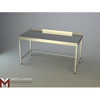 �ALI�MA TEZGAHI ALT TABLASIZ 100x60x85 - (304-18/10 Paslanmaz �elik)