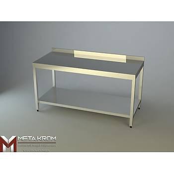 �ALI�MA TEZGAHI ALT TABLALI 130x60x85 - (304-18/10 Paslanmaz �elik)