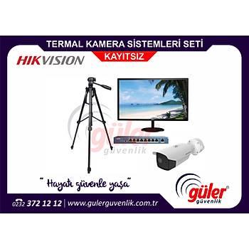 Hikvision Vücut Sýcaklýðý Isý Ölçer TERMOGRAFÝK Ýzmir Termal Kamera Sistemleri Seti Kayýtsýz