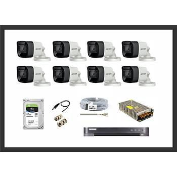 Hikvision 5MP HDTVI Ýzmir 8 Kamera Sistemleri Güvenlik Seti