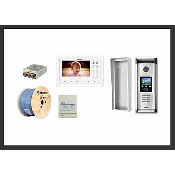 18 Daire 2K-180 4.3 TFT Pratik Plus Ýzmir Görüntülü Diafon Sistemleri