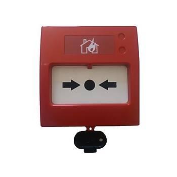 Teknim TFB-3165 Tekrar Kurulabilir Konvansiyonel KIRBAS Yangýn Alarm Butonu