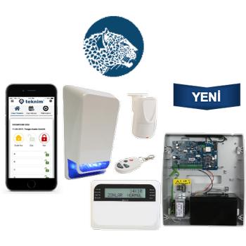 Teknim TSP-5324LCDA GSM/GPRS li Pars Alarm Sistemi Set Akü Dahil