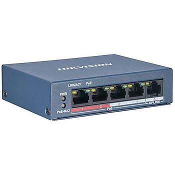 Hikvision DS-3E0105P-E/M(B) 5 Port Fast Ethernet Yönetilemez L2 PoE Switch