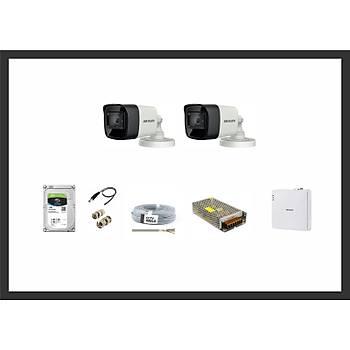 Hikvision 2MP HDTVI 2 Kamera Sistemleri Güvenlik Seti