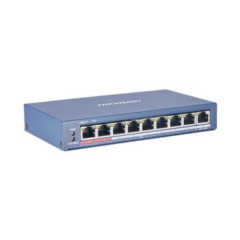 Hikvision DS-3E0109P-E(C) 9 Port Fast Ethernet Yönetilemez L2 PoE Switch
