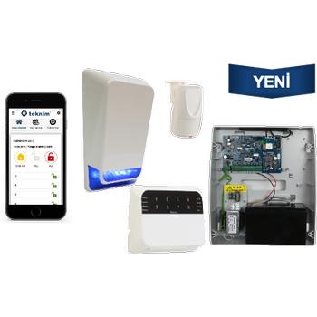Teknim TSP-5324LEDA GSM/GPRS li Pars Alarm Sistemi Set Akü Dahil