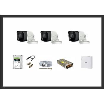 Hikvision 2MP HDTVI 3 Kamera Sistemleri Güvenlik Seti