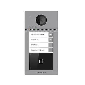 Hikvision DS-KV8413-WME1 Dört Abone Ýçin IP Çaðrý Paneli (IR Led ve WÝ-FÝ Özellikli)