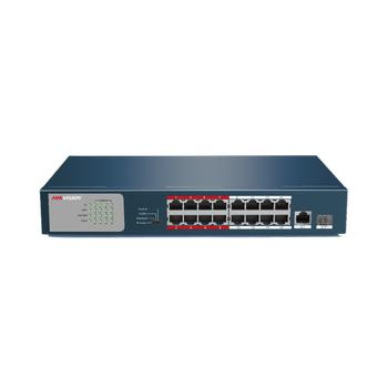Hikvision DS-3E0318P-E/M 16-ports 100Mbps Unmanaged PoE Switch