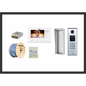 4 Daire 2K-130 4.3 TFT Pratik Plus Ýzmir Görüntülü Diafon Sistemleri