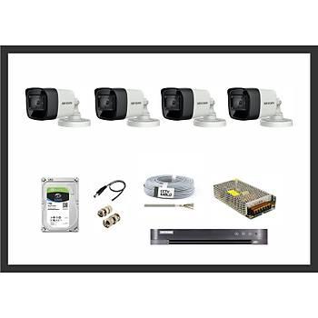 Hikvision 8MP HDTVI Ýzmir 4 Kamera Sistemleri Güvenlik Seti