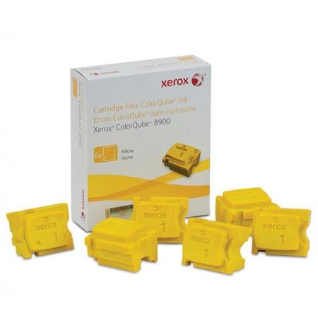Xerox ColorQube 8900 Genuine Xerox Solid Ink Yellow (6 Sticks) (108R01024)