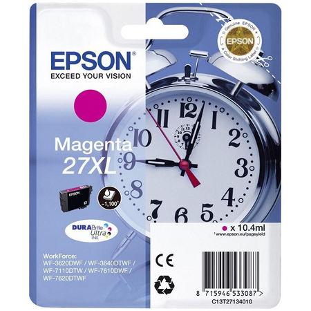 EPSON 27 XL Orjinal Magenta Kartuþ - C13T27134020