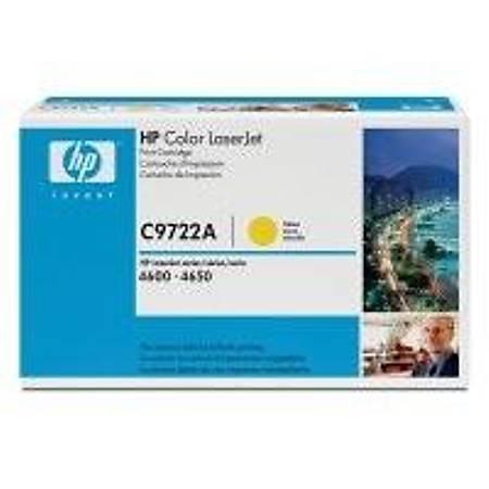 HP C9722A Yellow Toner Kartuþ