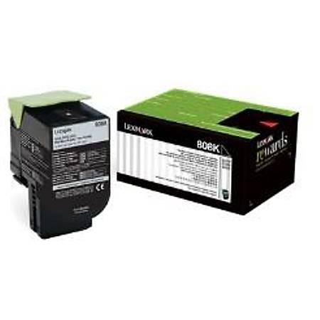 Lexmark 80C80K0 Siyah Return Toner 1000 Sayfa
