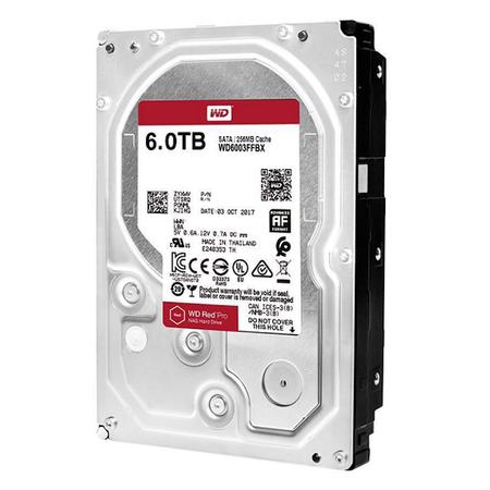 WD WD6003FFBX Red Pro 6TB 3.5 inch 256Mb Harddisk