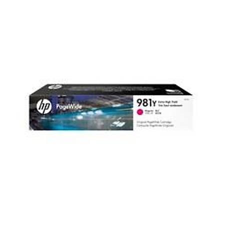HP 981Y Extra Yüksek Kapasiteli Macenta Orijinal PageWide Kartuþ