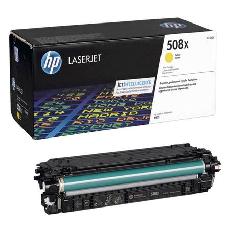HP 508X CF362X - HP LaserJet Enterprise M552 - M553 - M577 Orjinal Sarý Toner