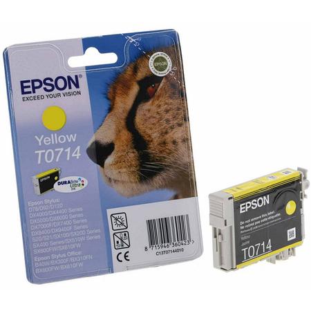 Epson T0714 Sarý Kartuþ - Epson T071440 Orjinal Sarý Kartuþ