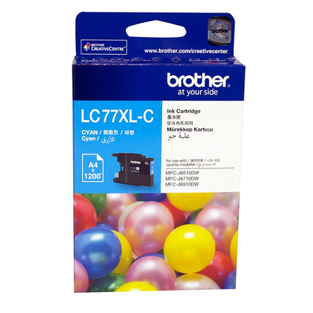 Brother LC77XL-C Orjinal Mavi Kartuþ