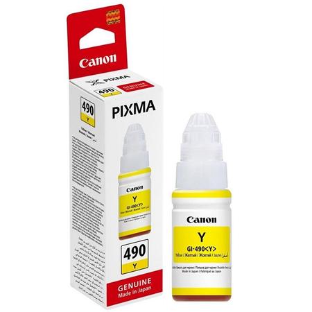 Canon GI-490Y - Canon Pixma GI-490 Y Orjinal Sarý Mürekkep