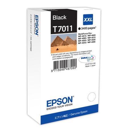 Epson T7011 Kartuþ, Epson T7011XXL Orjinal Siyah Kartuþ