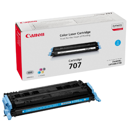 Canon 707C Toner - Canon I-SENSYS LBP5000 - LBP5100 Orjinal Mavi Toner