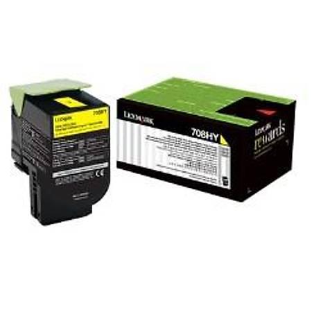 Lexmark 70C8HY0 - Lexmark Lexmark CS310, CS410, CS510 Orjinal Sarý Toner 3000Page
