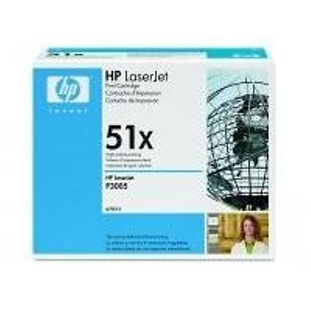 HP Q7551X Black Toner Kartuþ (51X)