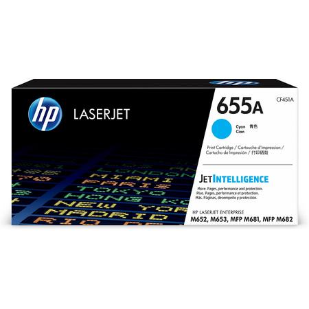 HP 655A CF451A TONER - Hp Laserjet M652 - M653 - MFP M681 - MFP M682 Orjinal Mavi Toner