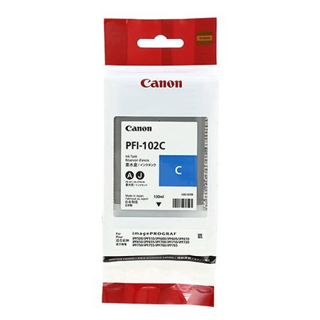 Canon PFI-102C Orjinal Mavi Kartuþ 130ML
