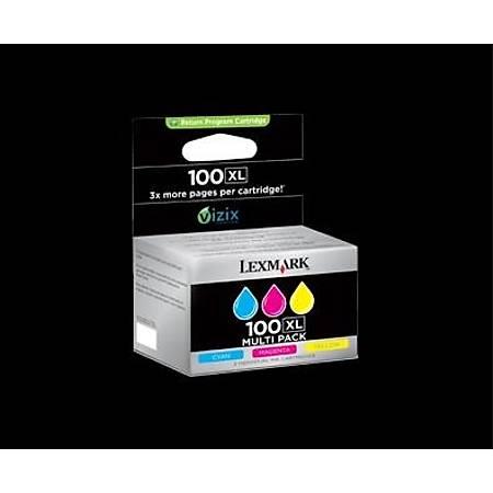 Lexmark 14N0850 100XL Renkli (CMY) Yüksek Kapasite