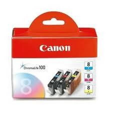 Canon CLI-8 CMY Mürekkep Kartuþ Multipack