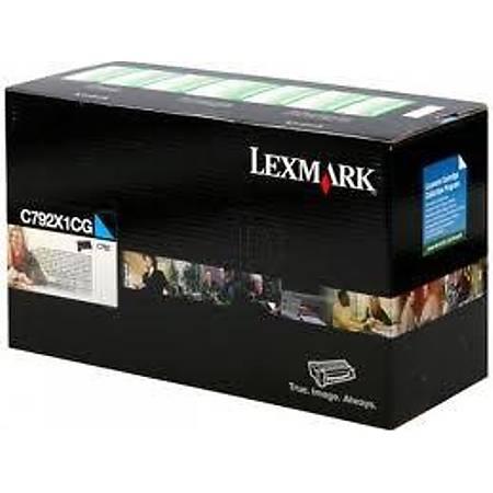 Lexmark C792X1CG Toner Cyan (20,000 Sayfa)