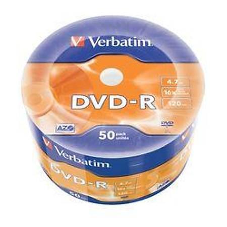 Verbatim 43791 DVD-R 50 Wrap Matt Silver 16x 4.7GB