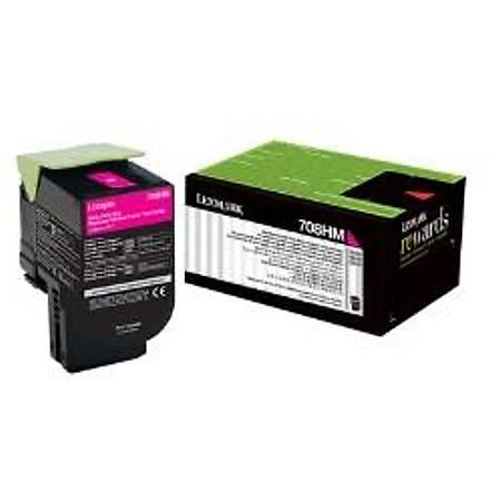 Lexmark 70C8HM0 - Lexmark Lexmark CS310, CS410, CS510 Orjinal Magenta Toner 3000Page