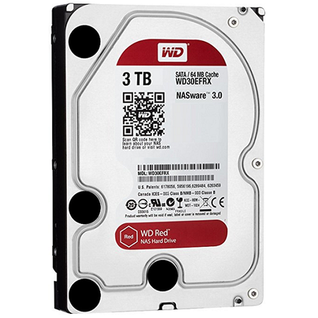WD WD30EFRX Red NAS 3.5'' SATA 3 Intellipower 3TB 64MB 7X24 Disk