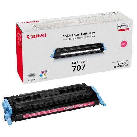 Canon 707M Toner - Canon I-SENSYS LBP5000 - LBP5100 Orjinal Magenta Toner