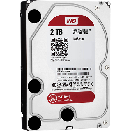 WD WD20EFRX Red NAS 3.5'' SATA 3 Intellipower 2TB 64MB 7X24 Disk