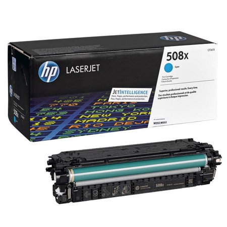 HP 508X CF361X - HP LaserJet Enterprise M552 - M553 - M577 Orjinal Mavi Toner
