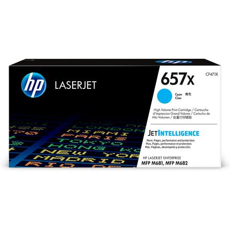 HP 657X CF471X TONER, Hp Color LaserJet MFP M681 - M682 Orjinal Mavi Toner