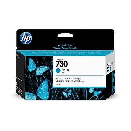 HP P2V62A 730 130 ml Orjinal Mavi (Cam Göbeði)  Kartuþ
