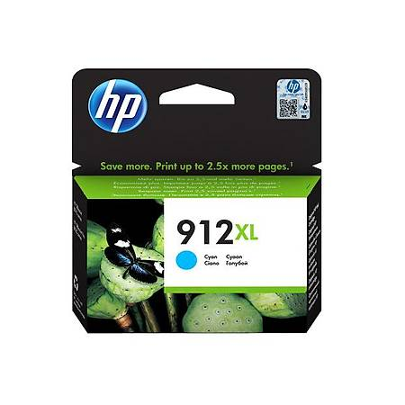 HP 912XL MAVÝ KARTUÞ , HP 912XL 3YL81AE ORJÝNAL MAVÝ KARTUÞ