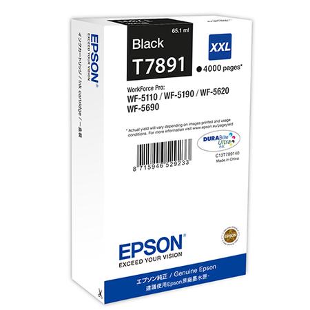 Epson T7891 - Epson T7891 XXL Orjinal Siyah Kartuþ - C13T789140