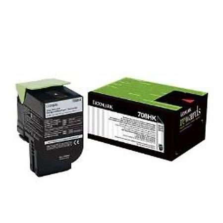 Lexmark 70C8HK0 - Lexmark Lexmark CS310, CS410, CS510 Orjinal Siyah Toner 4000Page