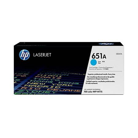 HP CE341A Cyan Toner Kartuþ (651A)