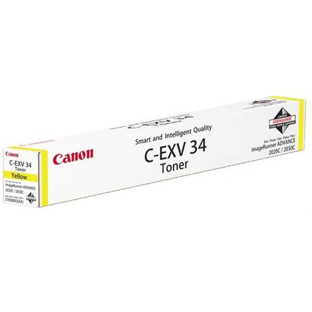 CANON C-EXV34Y SARI TONER - CANON IR C2020 - C2025 - C2030 - C2220 - C2225 - C2230 SARI FOTOKOPI TONERI