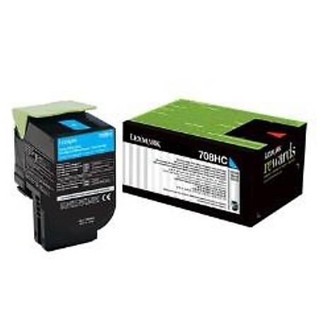 Lexmark 70C8HC0 - Lexmark Lexmark CS310, CS410, CS510 Orjinal Mavi Toner 3000Page