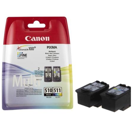 Canon PG-510 - CL-511 Multipack Orjinal 2Li Paket Siyah/Renkli